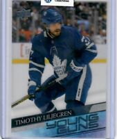 2020-21 UD Series 1 Clear Cut Young Guns #248 TIMOTHY LILJEGREN TORONTO LEAFS