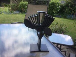 Ecofan 812, stove top heat powered air circulation fan, black.