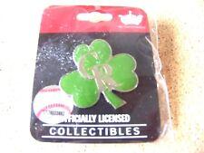 Colorado Rockies CR logo 3 leaf clover lapel pin MLB shamrock St Patrick's Day