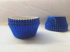 Blue Foil baking Cupcake liners Approx:45