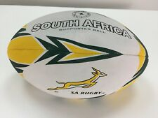 South Africa Rugby Supporter Ball SA Gilbert Size 5 Football Green White Yellow