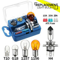 8 pcs Emergency Car Bulb & Spare Fuse Replacement Kit Set H4 1156 1157 S25 G18