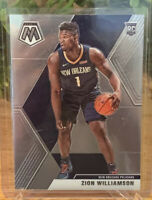 Zion Williamson🔥🔥📈19-20 Panini Mosaic #209 Rookie Base. Pelicans. MINT. PSA?