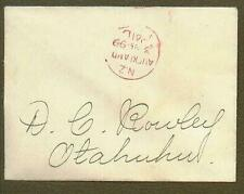 New Zealand Stampless Cover 1899 'PAID'