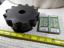 "Waukesha Walter 6"" Diameter Shoulder Mill Face Mill Shell Mill and 20 New Insert"
