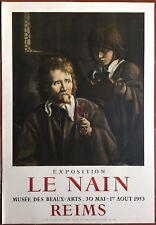 Affiche Exposition LE NAIN Reims MOURLOT Velin d'Arches 1953
