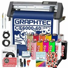 Graphtec PLUS CE6000-60 24 Inch Vinyl Cutter, Software & Siser HTV