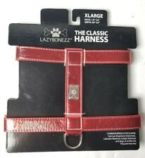 LAZYBONEZZ XLarge Classic Harness Dog Metallic Red NEW Labrador Shepard Doberman