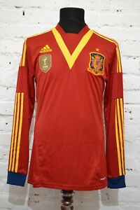 SPAIN HOME FOOTBALL SHIRT 2013/2014 SOCCER JERSEY PLAYER ISSUE CAMISETA MENS L