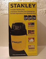 New in Box Stanley 2 Gallon Portable Wet / Dry Vac with (6) PC Accessories Kit