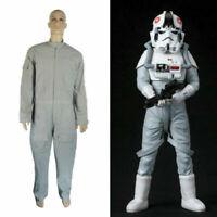 New Star Wars AT-AT Driver Gray Jumpsuit Costume Pilot Flightsuit Uniform