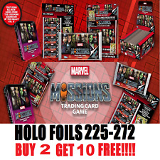 TOPPS Marvel Mission Cards MIRROR AND HOLOGRAPHIC FOILS! **BUY 2 GET 10 FREE!!**