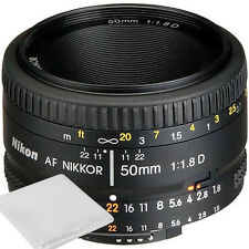 NEW Nikon AF Nikkor 50mm f/1.8D Lens for DSLR Cameras +Cleaning Cloth USA SELLER