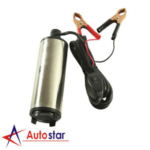 12V DC Aluminium Alloy Electric Submersible Diesel Transfer Pump Oil Fuel Water