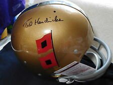 Ted Hendricks signed T B Univ. of Miami custom F/S  helmet, JSA