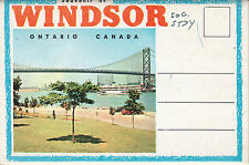 Windsor, Ontario, Canada postcard folder - 13 views - 1956