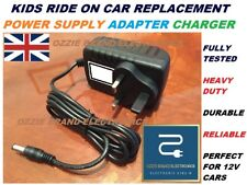 KIDS RIDE ON CAR 12V VOLT CHARGER ADAPTER TO FIT 12V AUDI BMW JEEP QUAD FORD ETC