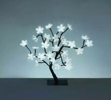 White Zig Zag LED Cherry Blossom Tree Indoor & Outdoor Use 45cm 48 LED's - White