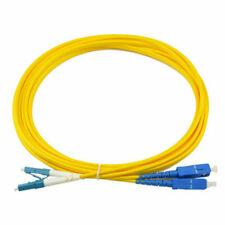 LC to LC Duplex 2.0mm OFNR 9//125 Single Mode Fiber Patch Cable 23ft 7m Blue