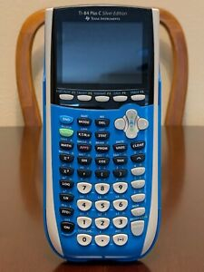 Texas Instruments TI84 Plus CE Silver Edition Graphing Calculator - Blue