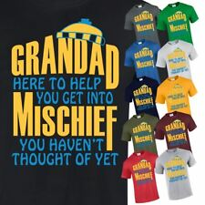 Grandad Mischief Mens Christmas Gift T Shirt Funny Casual Top Inspired Unisex