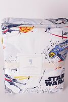 NWT Pottery Barn Kids Millennium Falcon twin sheet set sheets cotton percale