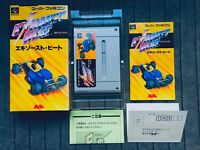 Exhaust Heat Super Famicom SFC SNES Nintendo Japan Box CIB w/Hagaki Reg Card