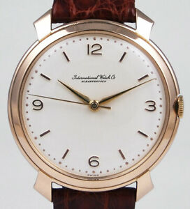 International Watch Company IWC 18K Pink Gold Calibre 89 - White Dial (1969)