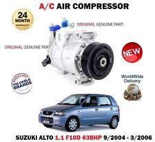 PARA SUZUKI ALTO 1.1 63bhp F10D 2004-3/2006 Original CA AIRE ESTADO Compresor