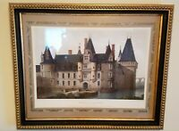 CHATEAU DE MAINTENON VICTOR PETIT LITH IN EXPENSIVE HIGH END HANDMADE FRAME