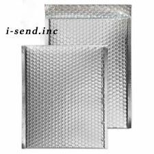 0 Metallic Silver Poly Bubble Mailers 65 X 10 Inner 65x925