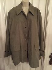 NEW METROPOLITAN VIEW Mens M olive polyester Coat Medium MSRP $180.00 TRENCH
