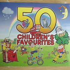 2CD NEW SEALED - 50 CHILDRENS FAVOURITES - Nursery Rhyme Kids Music 2x CD Album
