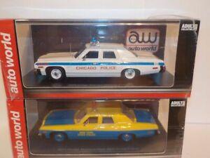Dodge Monaco - NY State Police, + Chicago  1/43 Model Car Double set