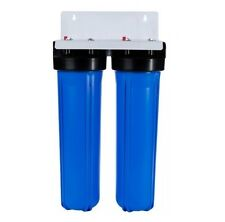 Whole House Water Filter Twin Housing 20' x 4.5' BIG BLUE + Bracket / No Filters
