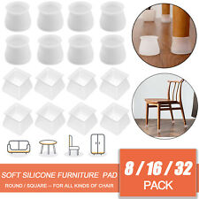 8/16/32Pcs Silicone Furniture Leg Feet Pad Floor Protector Table Chair Cover Cap