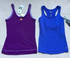 Adidas Climalite & Fila SPF 50 Athletic Tank Tops, Lot of 2, Purple,