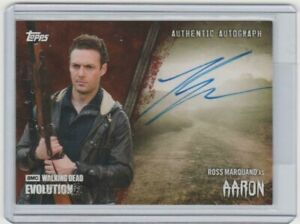 TOPPS WALKING DEAD EVOLUTION ROSS MARQUAND/AARON AUTOGRAPH CARD  #/99!  A-RMA