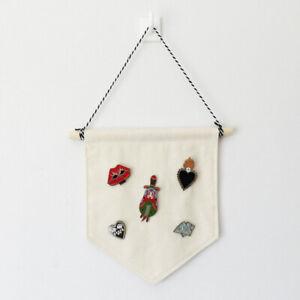 Badge Display Blank Cotton Pin Wall Display Hanging Pennant Banner Deco_hcZJ