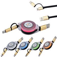V8 Micro Usb Macho Tipo C Combo de datos de Cable de carga mini retráctil