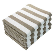 4 Pack of Cabana Beach Towels - 30 x 70 Extra Large Striped Cotton Bath Towels