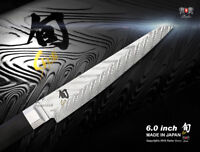 "Shun Dual Core 6"" Utility Knife Handcrafted Japanese Damascus Kitchen Cutlery"