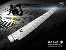 """Shun Dual Core 6"""" Utility Knife Handcrafted Japanese Damascus Kitchen Cutlery"""