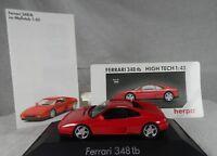 mx283, Herpa Ferrari 348tb rot / red  1:43 BOX