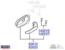 Genuine Hyundai Matrix Interior Front Right Drivers Door Handle - 8262017010