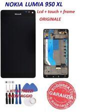 LCD NOKIA LUMIA 950XL ORIGINALE DISPLAY FRAME TOUCH SCREEN SCHERMO Nero  950 XL