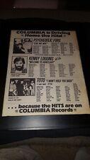 Toto, Psychedelic Furs, Kenny Loggins Rare Original Radio Promo Poster Ad Framed