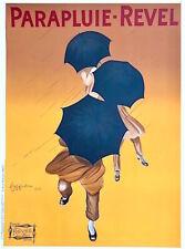 "Cappiello PARAPLUIE REVEL Fine Art Lithograph Giant Poster 52"" Black Umbrellas"