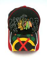 Autographed Chicago Blackhawks Hat - Esposito, Mikita, Roenick, Hull, Savard