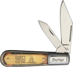 "Novelty Cutlery Don't Tread On Me Barlow 2 Blade 3 1/2"" Pocket Knife NV324"